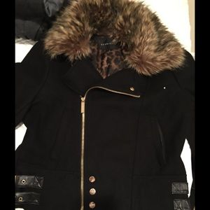 Sean John Jackets & Blazers - Sean John black jacket with faux fur hood