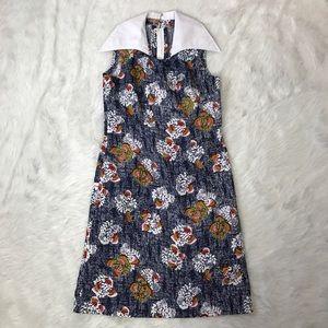 Vintage 70s Wide-Collared Dress