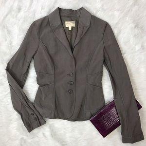 Elizabeth and James Jackets & Blazers - Elizabeth & James Gray Green Cotton Jacket