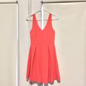 Lush Coral Fit and Flare Dress