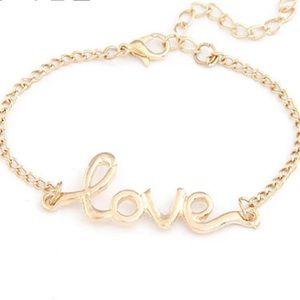 """""""Love"""" bracelet gold LOVE"""