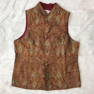 TravelSmith Jackets & Blazers - TravelSmith Reversible Silk Shantung Vest