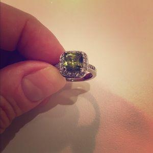 Mary Kay Jewelry - Emerald & Crystal Ring