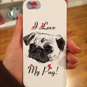 Redbubble I love my pug iPhone 5s case