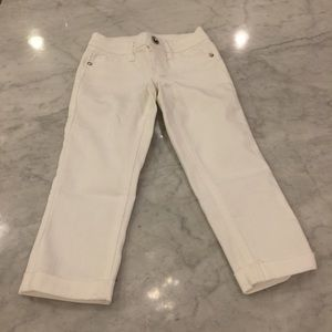 Justice Other - Like new! Justice white cuffed jeans 6 girls