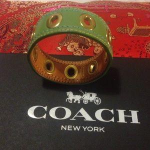 Coach Jewelry - Coach real leather bracket