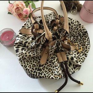 Roberto Cavalli Handbags - Roberto Cavalli leopard bucket bag