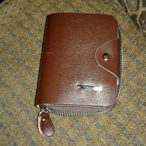 New! Zip Around Leather Wallet