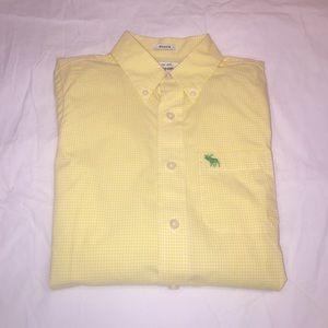 EUC Abercrombie Boys L/S Yellow Gingham Oxford