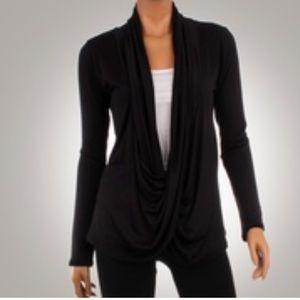 Tops - NWT Long Sleeve Criss Cross Cardigan in Black