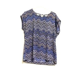 Skies are blue Tops - Blue printed blouse