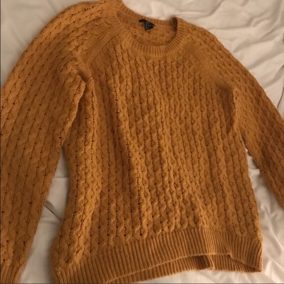 H&M - Oversized knit mustard sweater- H&M from ! elise 🌟posh ...