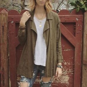Urban Outfitters Jackets & Blazers - Urban outfitters linen army jacket