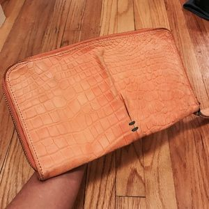 49 square miles clingy clutch purse coral