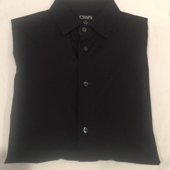 82 off chaps other euc chaps boy 39 s black button down for Chaps button down shirts