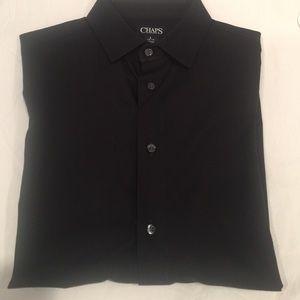 EUC Chaps Boy's Black Button Down Dress Shirt