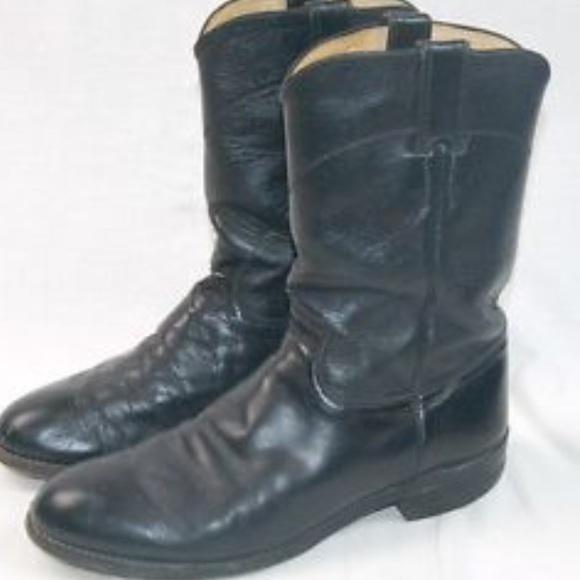efa680078dd Justin Black Kipskin Roper (Style 3133) Boots