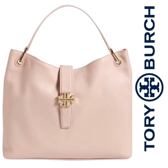 fedccbad2aa7 ⚡️Sale⚡️Tory Burch Light Pink Leather Hobo. M 5921f8487fab3a080b01458a
