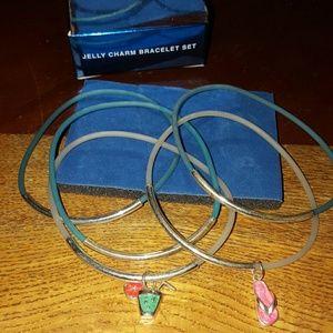  New Avon Jelly Charm Bracelet Set