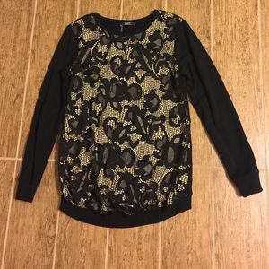 Tart lace front maternity top
