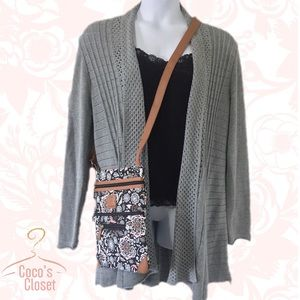 Notations Sweaters - 🆕 NWT grey cardigan with back flounce