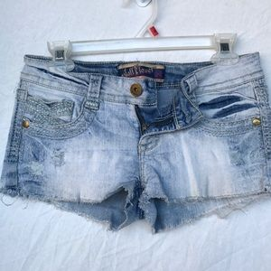 Wallflower Pants - Wallflower Jean Denim Frayed Shorts