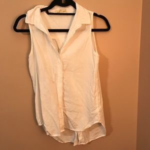 Anthro Holding Horses White Button Up Tank
