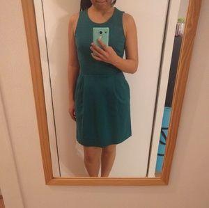 Teal madewell dress