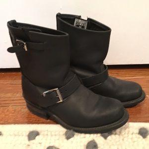 Frye double buckle Moto Boots size 6