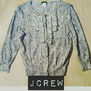 J. Crew Sweaters - Ruffled J Crew Cardigan