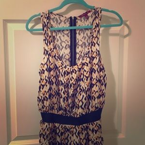 Francesca's Collections Dresses & Skirts - Francesca's Navy & Yellow Print Dress - L