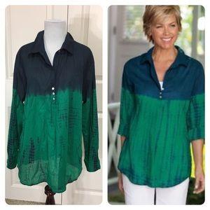 Soft Surroundings cotton blouse