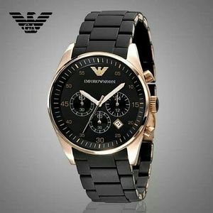 emporio Armani  Other - NWT Emporio Armani Chronograph rose/black watch