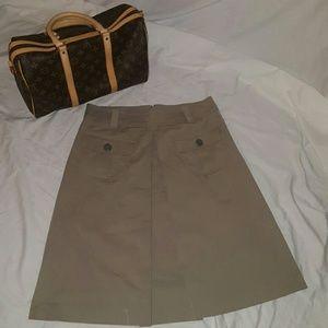 Dresses & Skirts - DKNY pleated Khaki skirt size 10