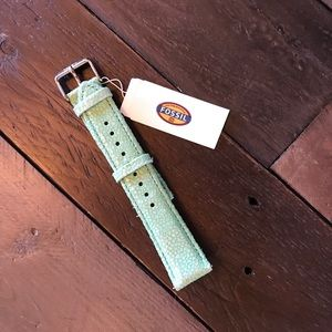 Fossil Accessories - 💍 Fossil Turquoise Snakeskin Embossed Watch Band