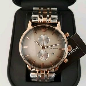 emporio Armani  Other - NWT Emporio Armani grey & rose gold Men's watch