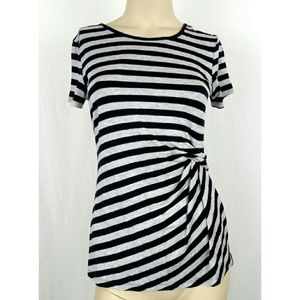 KENNETH COLE NEW YORK Striped top XS X-Small