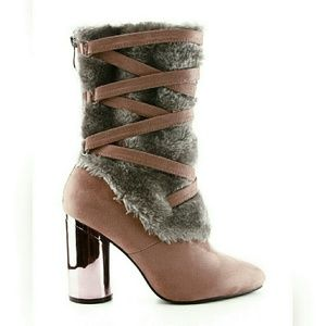 60 Off Shoes Dusty Rose Lace Up Wedge Nib Var Sz From
