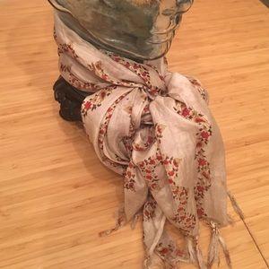 Vintage floral sheer scarf/wrap