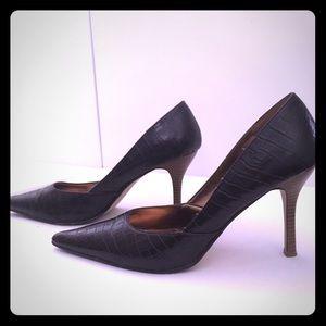 Rampage Shoes - Rampage Brown Snakeskin Pumps