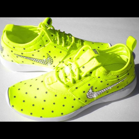 ea5eeb94f0072 Swarovski Nike Juvenate Volt Yellow Bling Nikes Boutique