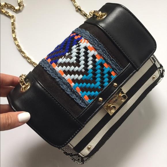 Topshop Bags - Striped messenger bag