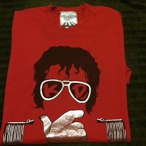 Kid Dangerous Other - Kid Dangerous Michael Jackson T-shirt MJ Red Large