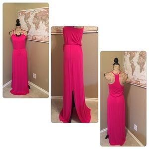 Loveappella Dresses & Skirts - 🎀Hot Pink Maxi Dress Excellent Condition🎀