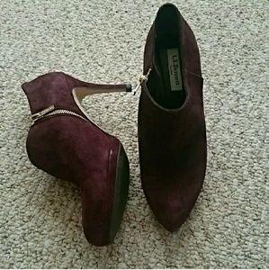 LK Bennett Shoes - LK Bennett Doris burgundy booties - brand new
