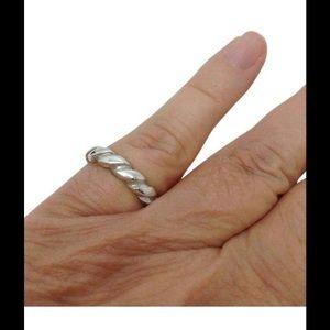 Tiffany & Co. Jewelry - Tiffany & Co. Stacking ribbed unisex fashion ring
