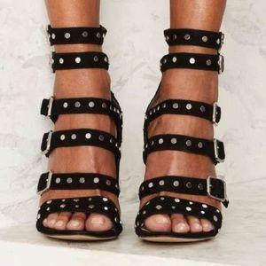 d54b08076127 Sam Edelman Shoes - Sam Edelman  York  Black Studded Suede Heel