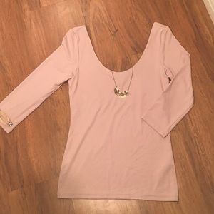 Light pink/purple 3/4 sleeve blouse- small!