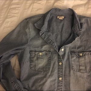 J. Crew Factory Tops - J Crew Chambray Shirt