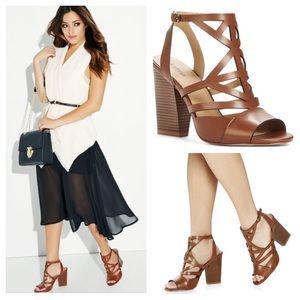JustFab Shoes - 🆕Darnetta Block Heel Sandal Cognac